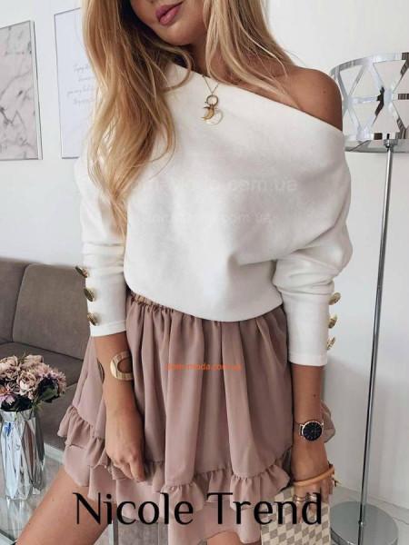 Стильна жіноча кофта із гудзиками на рукавах