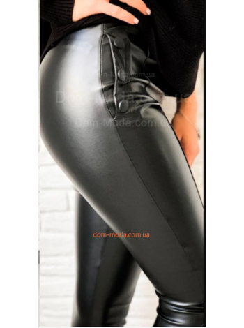 Стильные женские кожаные лосины