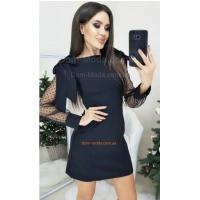 Недорогое вечернее платье с рукавом в горошек