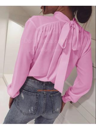 Недорогая женская блузка с бантом