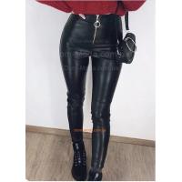 Модные кожаные лосины на молнии