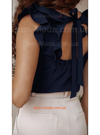 Нарядна блузка із відкритою спиною