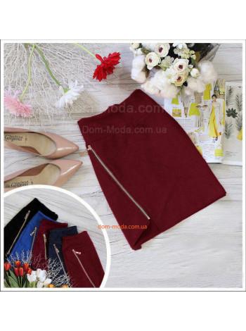 Стильная короткая юбка женская с молнией