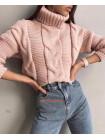 Модний светр крупної в'язки
