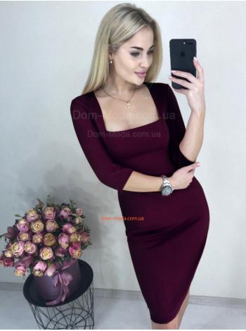 Недорогое женское платье с декольте