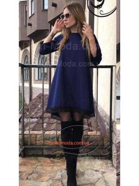 Женское платье платье свободного кроя с кружевом