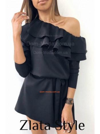 Платье женское короткое с открытым плечом