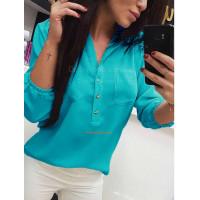 Женская модная блузка с рукавом для полных