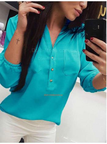 Жіноча модна блузка із рукавом для повних