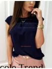 Женская красивая блузка с небольшим рукавом