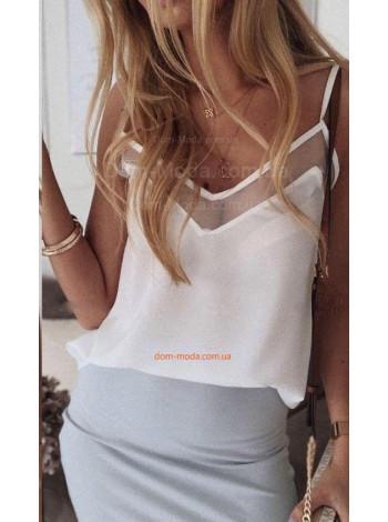 Летняя женская блузка на тонких бретельках