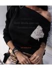 Модна жіноча кофта з кишенею