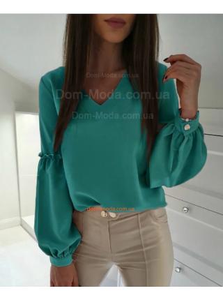 Модная женская блузка с объемными рукавами
