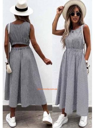 Літнє плаття міді в клітинку