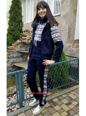 """Жіночий теплий спортивний костюм """"Скандинавський принт"""""""
