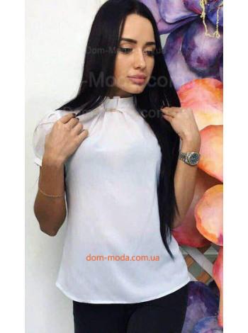 Женская летняя блузка с воротником стойкой