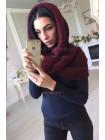 Жіночий в'язаний шарф хомут