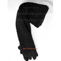 Зимние длинные перчатки митенки