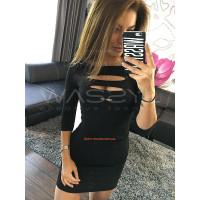 """Трикотажное женское платье с рукавом """"Play"""""""