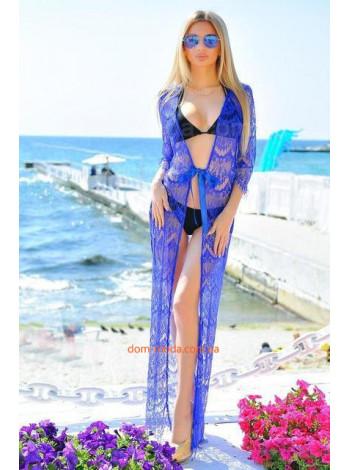 Кружевная пляжная туника в пол