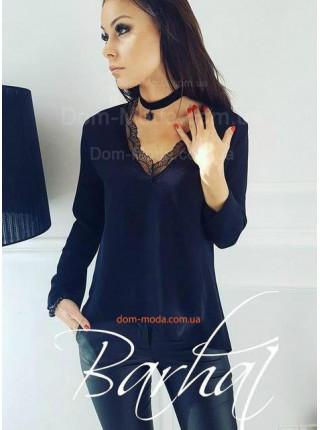 Женская элегантная блуза с кружевом