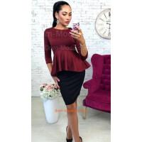 Женская стильная кофта блуза с баской