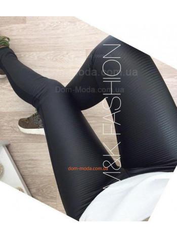 Жіночі чорні лосіни із стьоганої шкіри