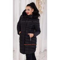 """Зимове стильне жіноче пальто із хутром """"Грудень"""""""