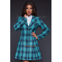 Женское модное пальто в клетку из букле