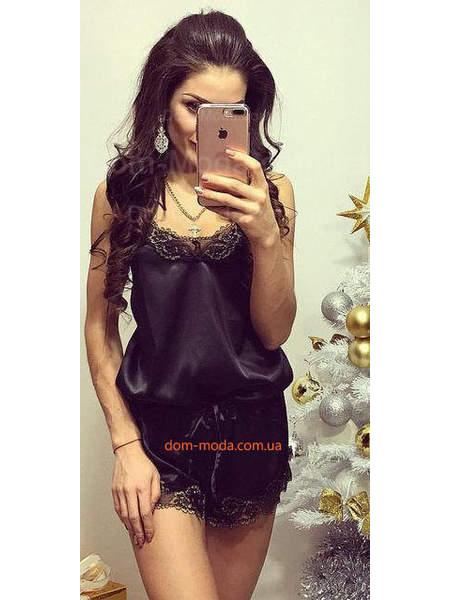 Женская домашняя пижама черного цвета