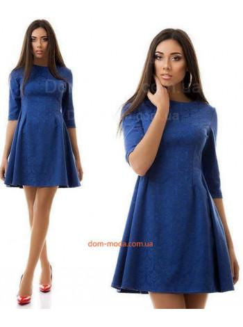 Женское жаккардовое платье с рукавом