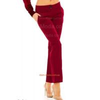 Бордові жіночі прямі брюки