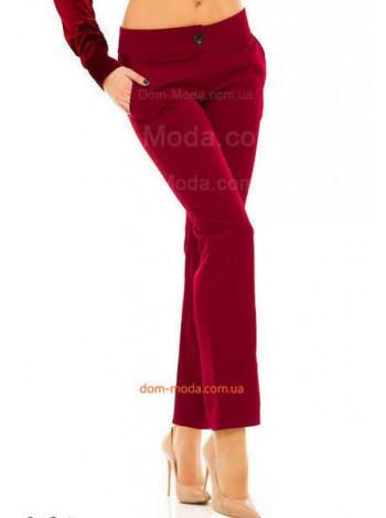 Бордовые женские прямые брюки