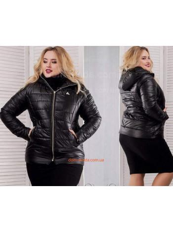 Женская короткая куртка на синтепоне большого размера