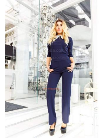 Модный женский комбинезон с брюками и белым воротничком