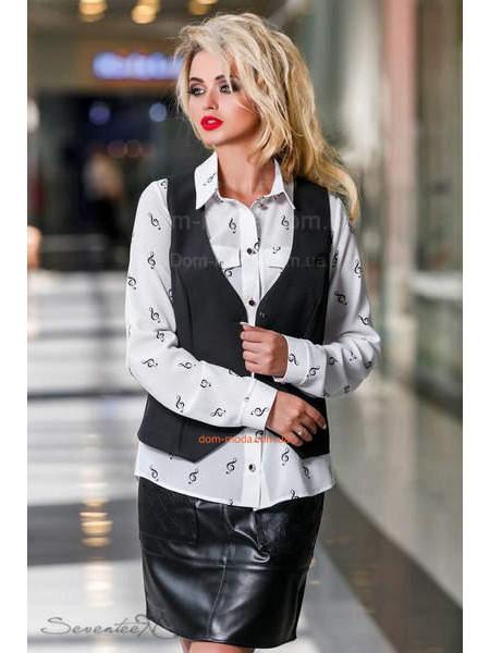 Женский модный классический жилет черного цвета