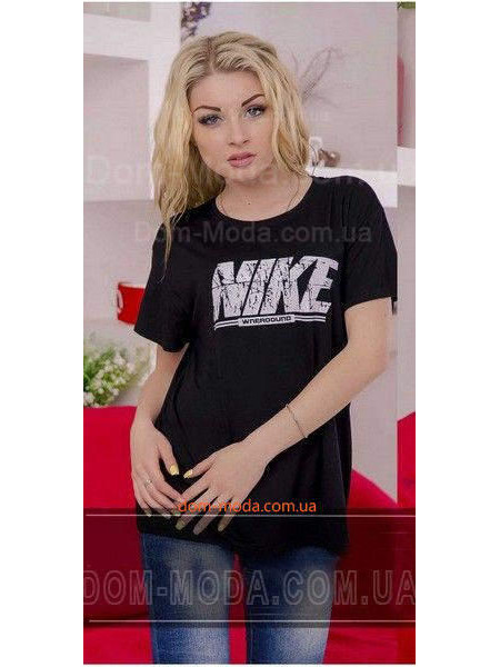 "Женская батальная футболка ""Найк"""