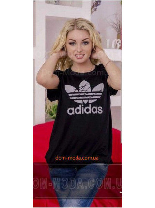 "Женская батальная футболка ""Адидас"""