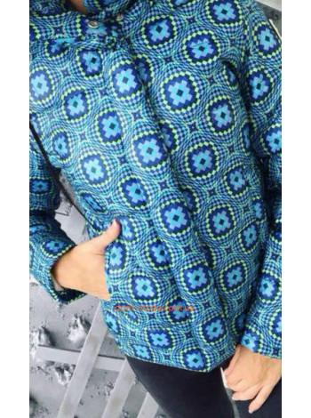 """Короткая модная куртка """"Мозаика"""""""