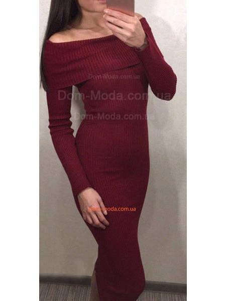 Жіноче модне плаття із відкритими плечима