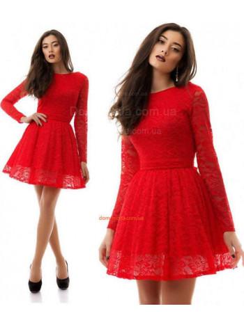 """Женское нарядное гипюровое платье с длинным рукавом """"Яна"""""""