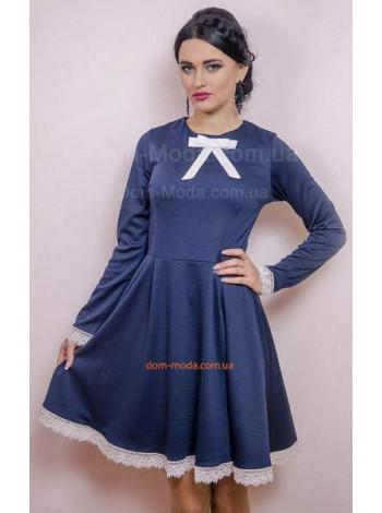 """Женское платье синего цвета """"Гувернантка"""""""