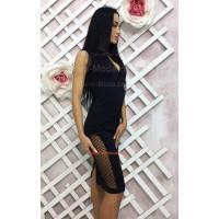 Вечірнє жіноче плаття футляр чорного кольору