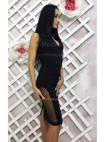 Вечернее женское платье футляр черного цвета