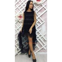 Молодіжна вечірня сукня чорного кольору