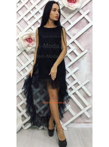 Молодежное вечернее платье черного цвета