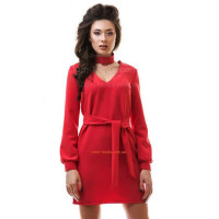 Модне коротке жіноче плаття червоного кольору