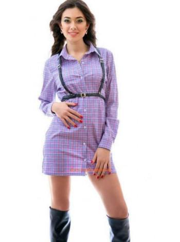 Жіноча міні сукня сорочка з довгим рукавом
