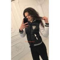 """Женская молодежная куртка бомбер большого размера """"Клен"""""""