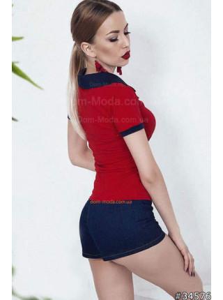 Модне жіноче поло червоного кольору